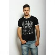 Epatage Мужская облегающая футболка с принтом черного цвета Epatag RT010528m-EP