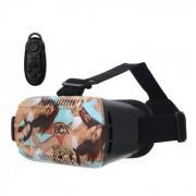 VR 3D Video Headset Gafas + Bluetooth Controlador - Azul + Negro