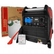 Pachet generator electric Profesional Loncin LC 3500i portabil 3.5 kW 7 CP inverter monofazat + canistra 1l AgroPro