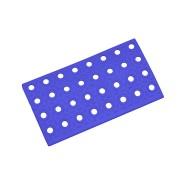 Modrý plastový nájezd AT-HRD, AvaTile - délka 25 cm, šířka 13,7 cm a výška 1,6 cm