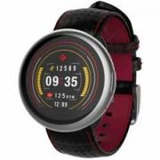 Smartwatch MyKronoz ZeRound 2 HR Premium Argintiu si Curea Carbon Neagra
