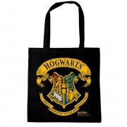 Logoshirt Harry Potter - Hogwarts Logo Black Tote Bag