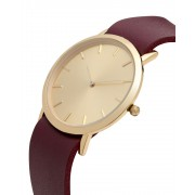 Analog Watch Classic Gold Plated Dial & Cherry Strap Watch GC-CG