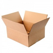 Set 10 Cutii Clasice, 320x250x120 mm, Carton Natur Ondulat in 3 Straturi, Cutie Clasica, Cutie pentru Ambalare si Depozitare, Cutie Carton, Cutie Transport, Arhivare si Organizare
