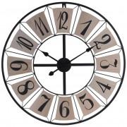 Zegar ścienny metalowy duży RETRO LOFT 70 cm