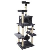 i.Pet Cat Tree Trees Scratching Post Scratcher Toys Condo House Furniture Wood [PET-CAT-FL09-GR]
