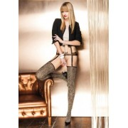 Trasparenze Zircone - Sensuous mock suspender tights with leopard print