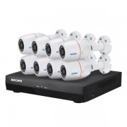 ESCAM PNK805 1080P 8CH POE NVR Security System with Motion Detector Alarm ONVIF Waterproof IR Camera