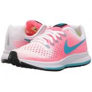 Nike Zoom Pegasus 34 (Little KidBig Kid) WhiteChlorine BlueRacer PinkBlack