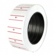 Etichete pret autocolante albe, 21x12 mm, 300 buc/rola, 10 role/set