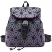 Cubern Geometric Backpack for Women Reflective Holographic Backpacks Luminous Shard Lattice Shoulder Bag Fashion Rucksack, (Style NO6) 20 L Backpack(Black, Grey)