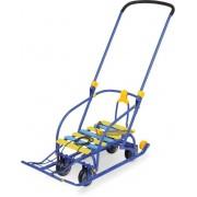 Санки Nikki 3 с механизмом выдвижных колесных шасси, синий N3/С