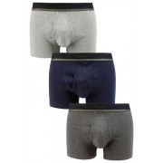 Mens Next Grey A-Fronts Three Pack - Grey