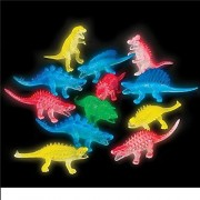 Glow in the Dark Dinosaur Assortment (Package of 12)