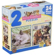 Master Pieces Puzzle Company 2 In 1 Blue Jigsaw Puzzles (24 Piece), Art By Keith Kimberlin