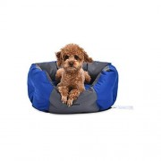 Amazon Basics Cama para Mascotas Resistente al Agua, 53.09 cm, Azul Royal