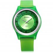 MingRui MR - 8823 De Cuarzo Reloj De Los Cabritos 30m Resistencia Al Agua De Plástico Correa De Reloj De Pulsera (Verde)