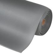Šedá průmyslová protiúnavová metrážová rohož - šířka 60 cm a výška 1,27 cm