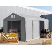 Profi prémium 6x12 m rendezvénysátor PVC 500g/m2, fehér színben
