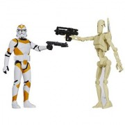 Star Wars Mission Series Utapau Pack [Battle Droid and 212th Battalion Clone Trooper] 3.75 Inches