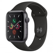 Apple Watch Series 5 GPS 44mm Space Grey Aluminium Case Black Sport Band