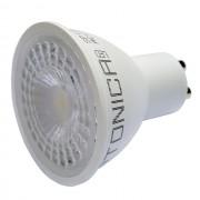 LED lámpa , égő , szpot , GU10 foglalat , 38° , 5 Watt , hideg fehér , Optonica