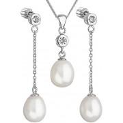 Evolution Group Set de perle de argint cu zirconi Pavon 29005.1 AAA alb
