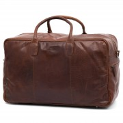 Lucleon Montreal Hellbraune Leder Duffle Bag Reisetasche