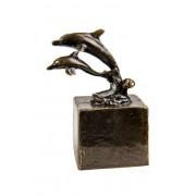 Asbeeldje Vrijheid 8 cm, 2 Dolfijnen, Brons (0.024 liter)