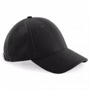 Beechfield Wollen baseballcap zwart voor heren