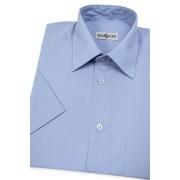 Pánská košile KLASIK krátký rukáv Středně modrá 351-16-46/182