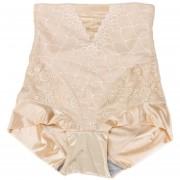 ER Abdomen Cintura Alta Moda Pantalones Tela Transpirable Cuerpo En Forma De Mujer Ropa Interior XL-El Color De La Piel