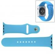 Voor de Apple Watch Sport 42mm High-performance Rubber Sport horlogeband met Pin-en-tuck Closure(Blue)