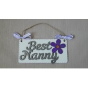 Best Nanny - silver/purple
