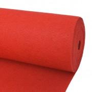 vidaXL Изложбен килим, 1x12 м, червен