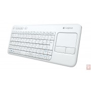 Logitech Wireless Touch K400 Plus, multi-touch navigation, USB, US, white/black