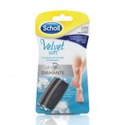 Scholl - velvet soft cristalli di diamante1 ricarica soft touch + 1 ricarica extra esfoliante
