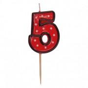 """Číslová sviečka na špajdli """"5"""" 50 mm [1 ks]"""