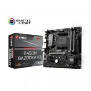 Дънна платка MSI B450M BAZOOKA V2, B450, AM4, DDR4, PCIe (HDMI&DVI), 4x SATA 6Gb/s, 1x M.2 slots, 2x USB 3.1 Gen1, ATX