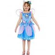 Costum Carnaval Copii Fluturas Hello Kitty Albastru