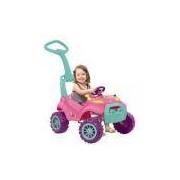 Carro A Pedal Infantil De Passeio Smart Rosa Bandeirante - 462