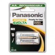 Panasonic Batterie Ricaricabili 2Pz. Stilo Tipo Aa. 2450 Mah