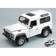 Land Rover Defender, White, Model Car, Ready Made, Welly 1:24
