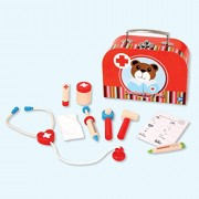 My Doctor Set - Wooden Toys - Brainsmith - Early Learning - Pretend Play - Imagination - Role Play toys - Story telling Activity - Creativity building - Kitchen Set - Birthday gift - Return Favour - Play and Learn - Child safe toys - 3 years and above