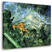 Paul Cézanne: A Sainte- Victoire hegy és Chate Noir (30x25 cm, Vászonkép )