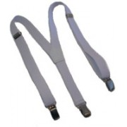 A&S Y- Back Suspenders for Men(White)