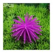 3 PCS Acuario Articulos Decoracion TPR Simulación Erizo Bola Coral Con Punto, Tamaño: L, Diámetro: 13 Cm (purpura)