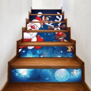 Rosegal Autocollants Décoratives d'Escalier Motif Cerf et Père Noël 100*18CM*6pcs