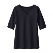 V-halsshirt, zwart 52