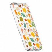 Husa Silicon Transparent Slim Toamna 108 Apple iPhone 5 5S SE
